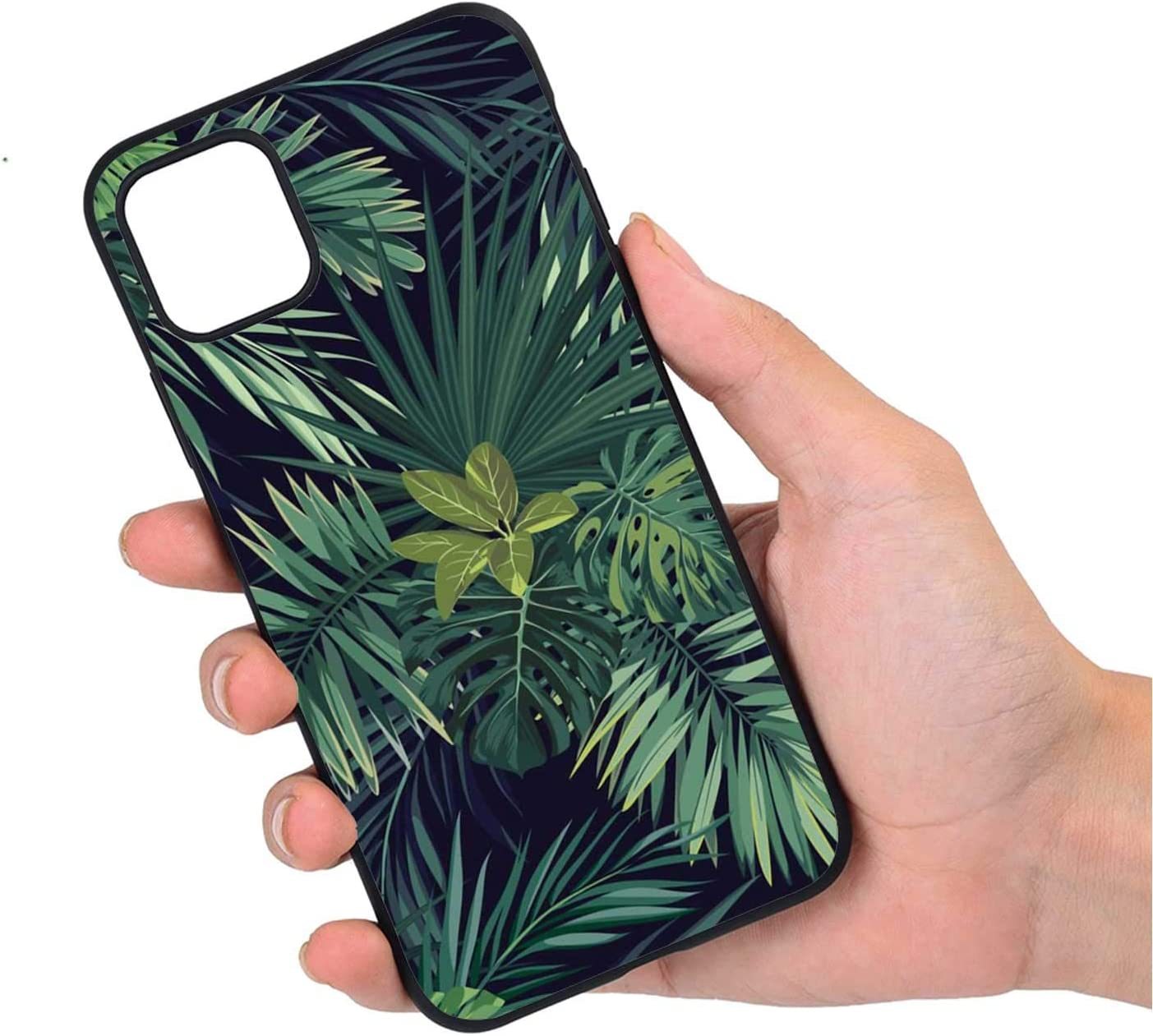 Seamless floral pattern with hand drawn leaves iPhone 11 case