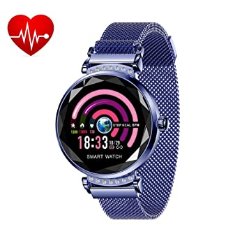 Montre Connectée Cardio Smartwatch Podometre Bracelet Connecté Femme Fille Enfant Smart Watch Android iOS Etanche IP67