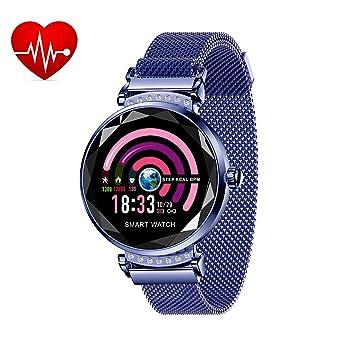 Montre Connectée Cardio Smartwatch Podometre Bracelet Connecté Femme Fille Enfant Smart Watch Android iOS Etanche IP67