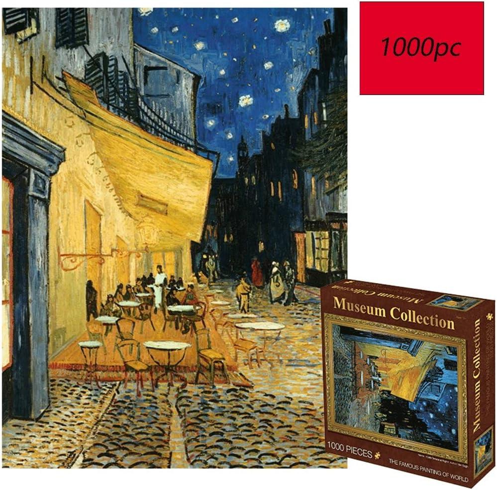 Assoluto Cafe bajo Las Estrellas Willem Van Gogh, Mundo Famoso Cuadro Puzzle, 1000 Fotografía de Juguete tabletas Piezas en Caja, Adultos y niños Jigsaw Puzzle Toy 0109