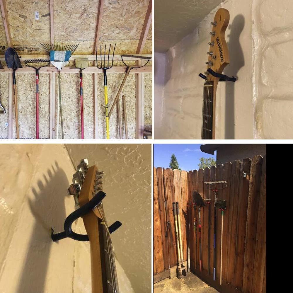 AIYoo Screw-In Hooks Tool Storage Shed Garage Utility Hook Multi-purpose Hooks Set Heavy Duty Wall Mount Vinyl Coated Storage Household Hooks for Garden Tools Shovels Rakes Red Pack of 10 Lemeijia LJ-1039
