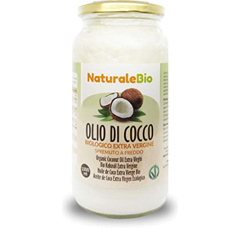 Aceite de Coco Ecológico Extra Virgen 1000 ml. Crudo y prensado en frío. 100% Orgánico, Puro y Natural. Aceite bio nativo no refinado. País de origen Sri Lanka. NaturaleBio: Amazon.es: Alimentación y