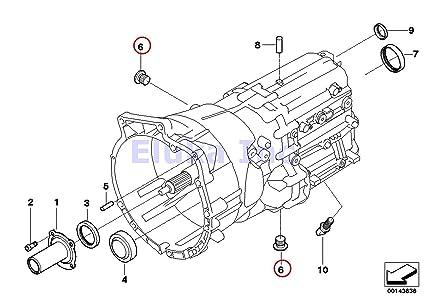 bmw genuine drain plug with seal ring for manual transmission 325ci 325i  330ci 330i 330xi x5