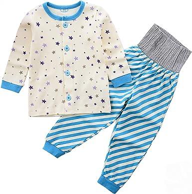 AIKSSOO - Pijama Entero - para bebé niño Beige Stars 100 cm ...