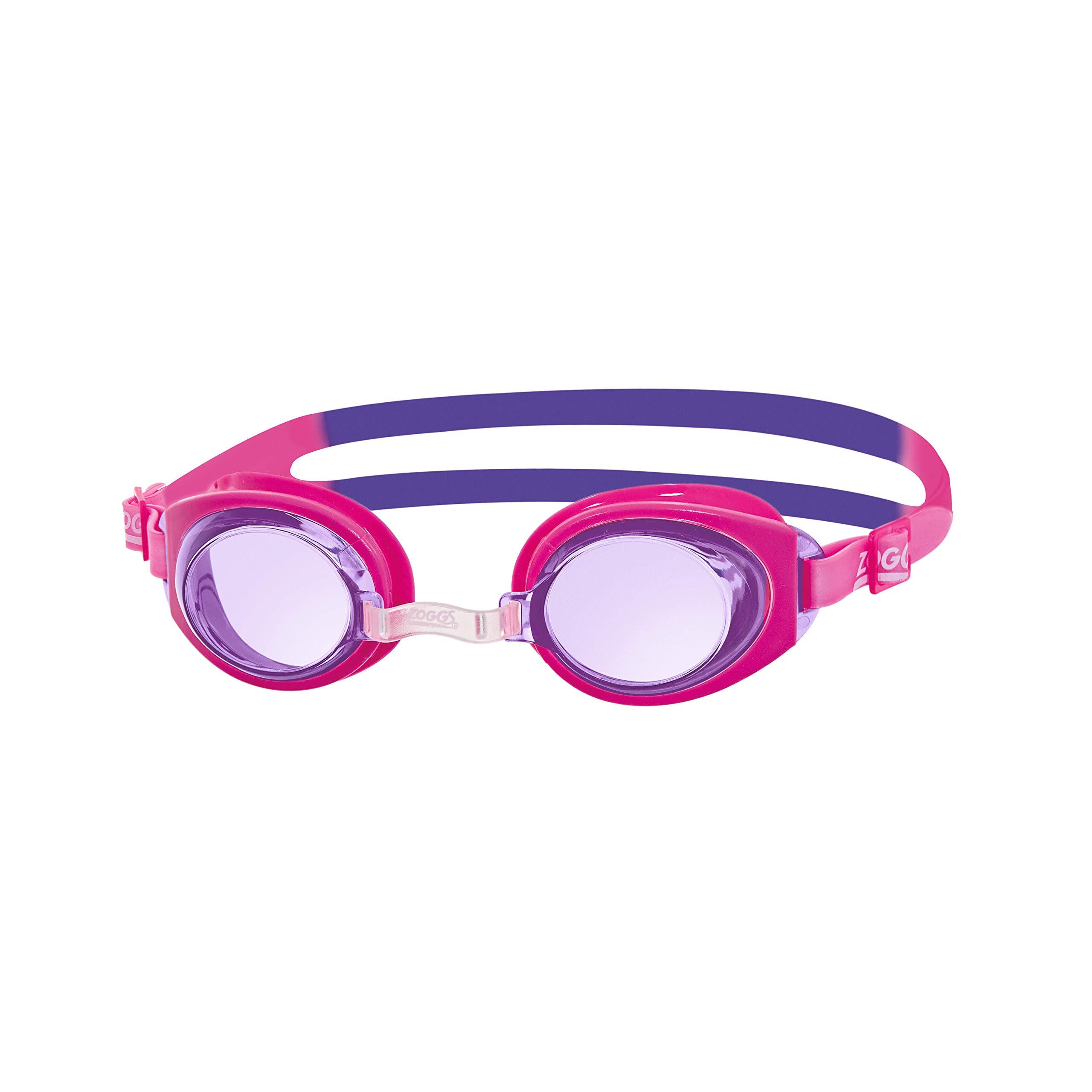 Zoggs Ripper Kids Childrens Swimming Goggles 6-14 Years Anti Fog Adjust Pink