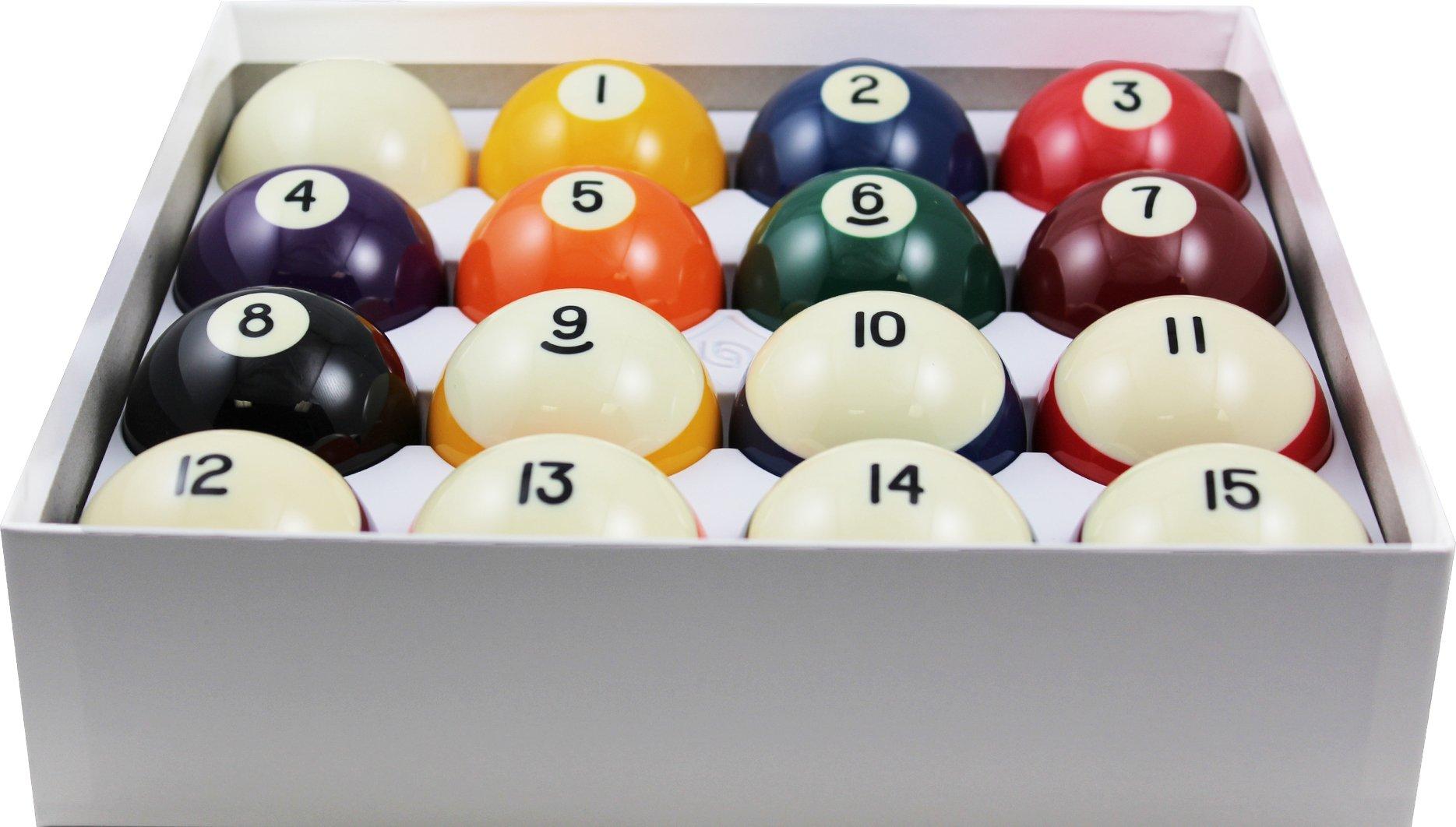Aramith 2-1/4'' Regulation Size Crown Standard Billiard/Pool Balls, Complete 16 Ball Set