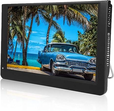 LEADSTAR 1080p DVB-T/T2 12 PulgadasTV LED Full HD TV Digital Portátil-TV Analógica,ATV,Pantalla Color TFT-LED 1500 mah Batería Recargable para Uso en ...
