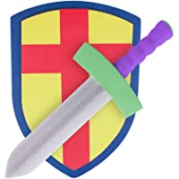 Children's Foam Toy Medieval Joust Sword & Shield Knight Set Lightweight Safe for Birthday Party Activities Event Favors…