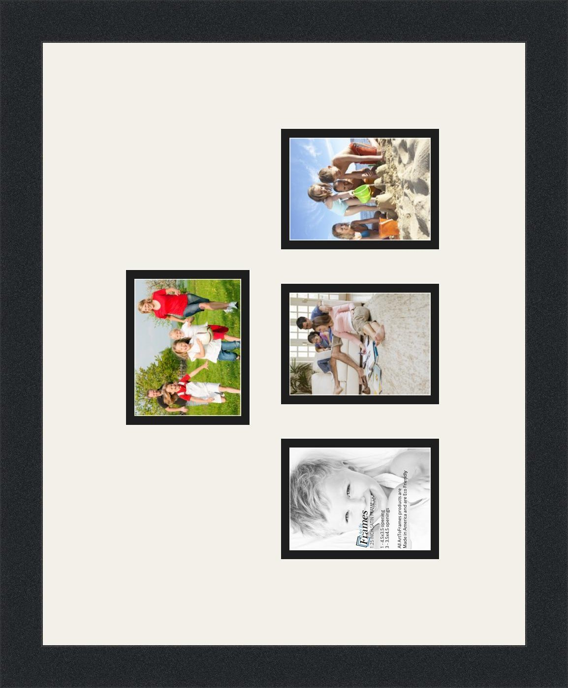 Amazon.com - ArtToFrames Collage Photo Frame Double Mat with 4 - 3.5 ...