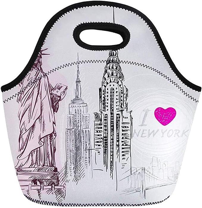 Bolsa Porta Alimentos,Edificio New York Sketch City Liberty ...