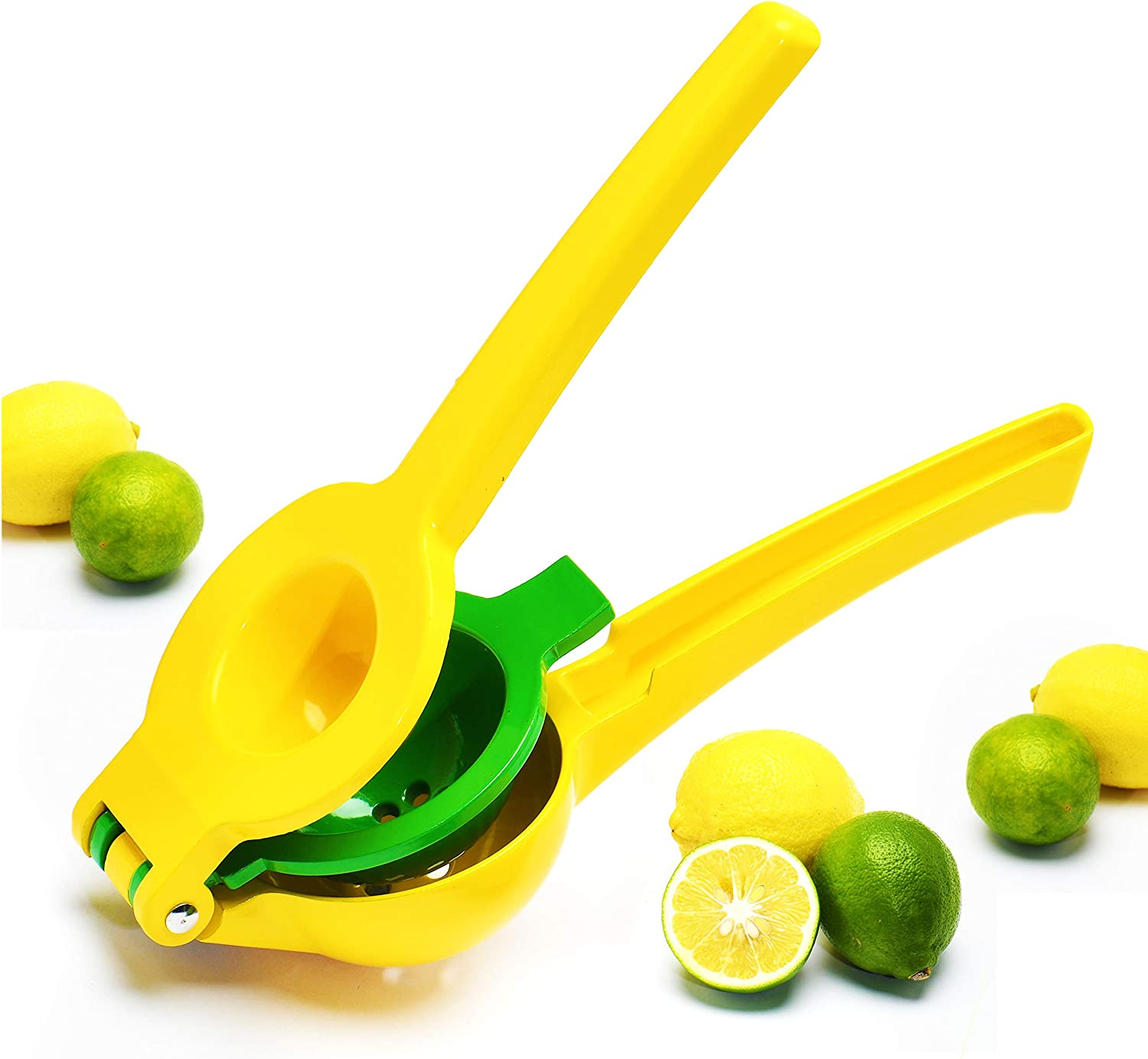 Lemon Squeezer, Premium Juicer Lime Squeezer Hand Stainless Steel Press Metal Design for Orange Citrus Fruit Manual Juicers by Jell-Cell