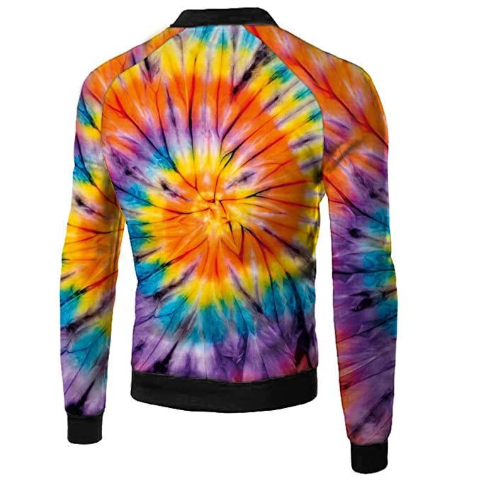 YueLian Mens Long Sleeve Flower 3D Printed Zip-up Sweatshirt Jackets at Amazon Mens Clothing store: