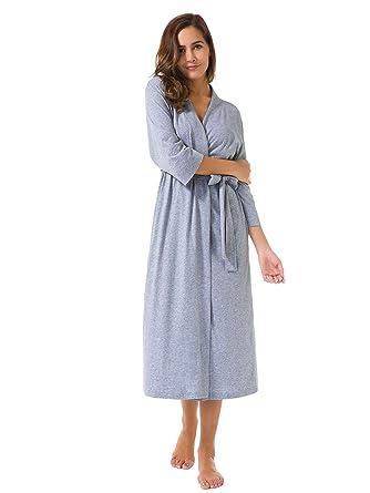e54f813c87 SIORO Womens Dressing Gown Cotton Kimono Robe