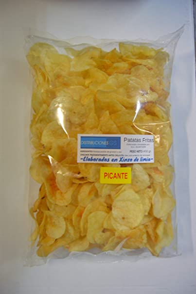 Patata Frita Picante Gallega Xinzo Bolsa de 450Gr.: Amazon ...