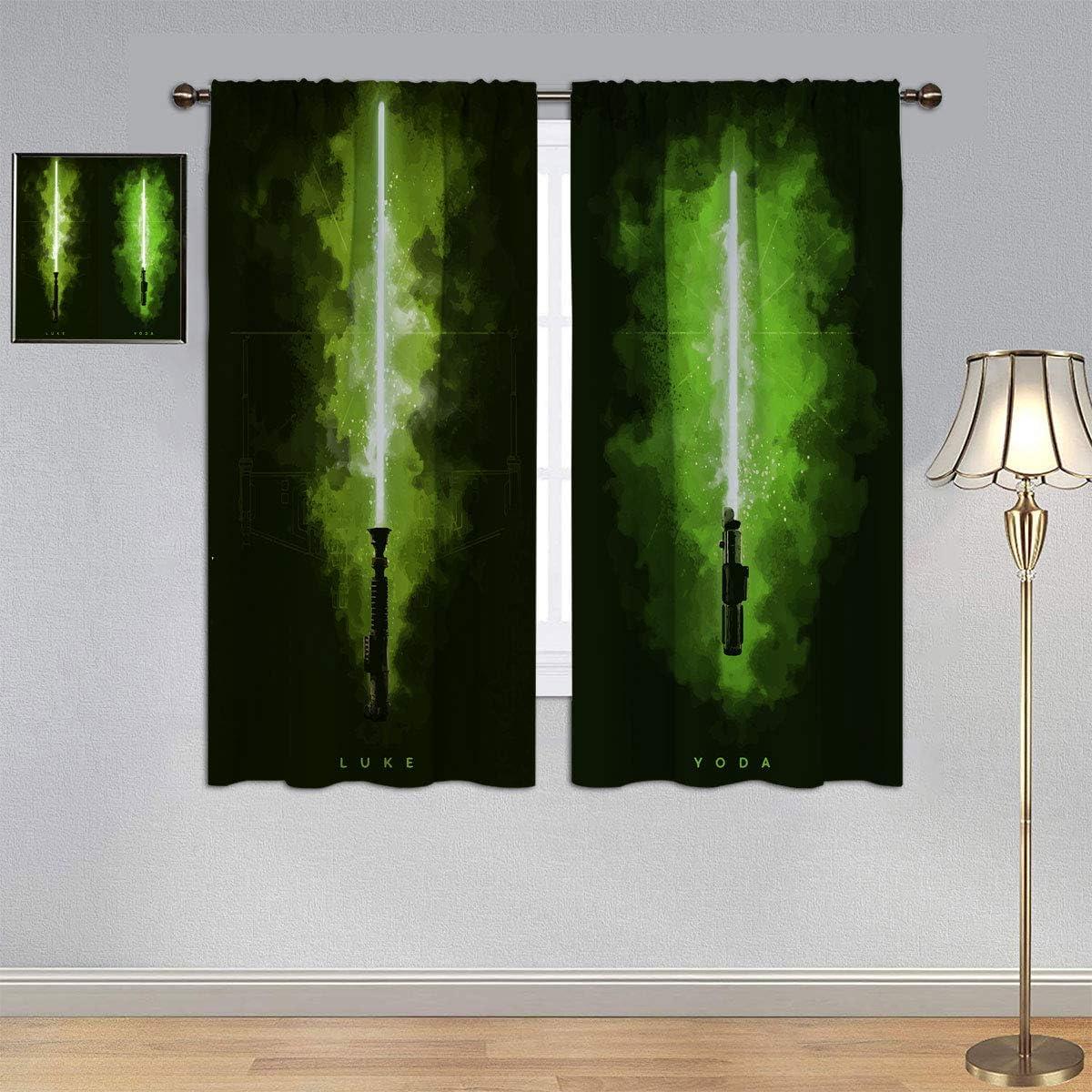 Luke /& Darth Maul Energieeffizienz Vorh/änge f/ür Kinderzimmer 107 x 114 cm Star Wars Lichtschwert-Vorh/änge ARYAGO Energieeffizienter w/ärmeisolierter Verdunkelungsvorhang