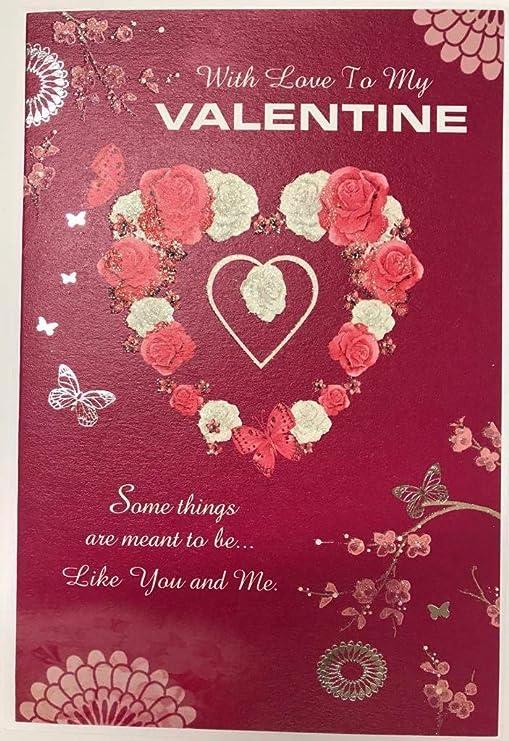 Con el amor a mi Tarjeta de San Valentín: Amazon.es: Hogar