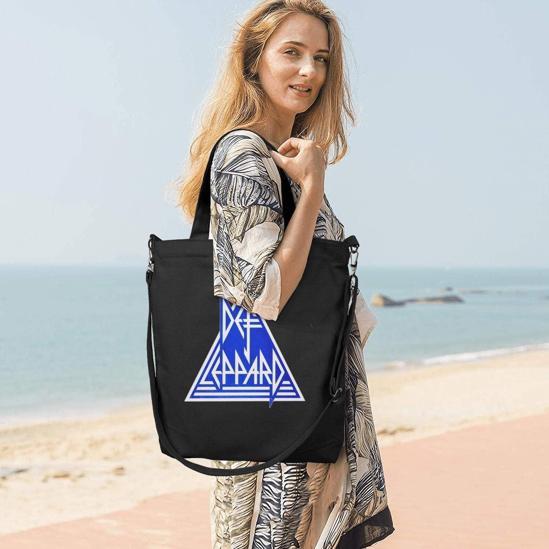 Womens Canvas Grocery Tote Handbags Casual CrossBody Shoulder Bag Metal Rock Poster Essential Shopping Hobo bag