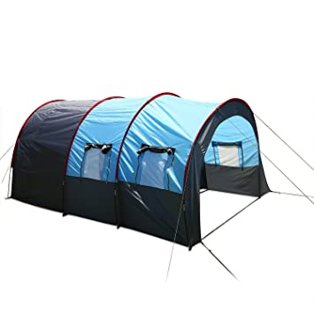 ANCHEER Family Tunnel Tent 6 Man with Porch Waterproof Large Group C&ing Tent XXL for Outdoor  sc 1 st  Amazon UK & ANCHEER Family Tunnel Tent 6 Man with Porch Waterproof Large Group ...