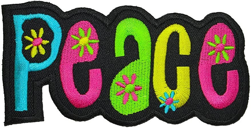 PEACE LOVE VEGAN Embroidered Patch Iron-On Sew-On Biker Decorative Applique
