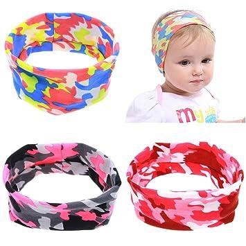 Amazon.com  HONEY HOMEY 6Pcs Camouflage Headband for Infant Baby ... dc028a7ce1e