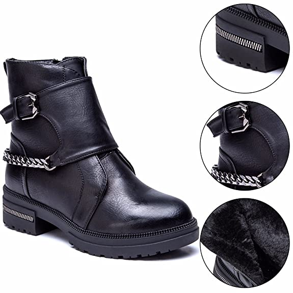 CESTFINI Ladies Plush Winter Leather Boots, High Top Casual Lace up Flat  Boots For Women: Amazon.co.uk: Shoes & Bags