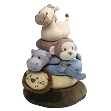 d73bc376bf5f Amazon.com : Baby GUND Playful Pals Stacker Ring Set Stuffed Animal ...