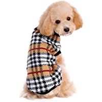 Dimart Classical PuPPy Dog Warm&Comfortable Plaid Pattern Knit Sweater