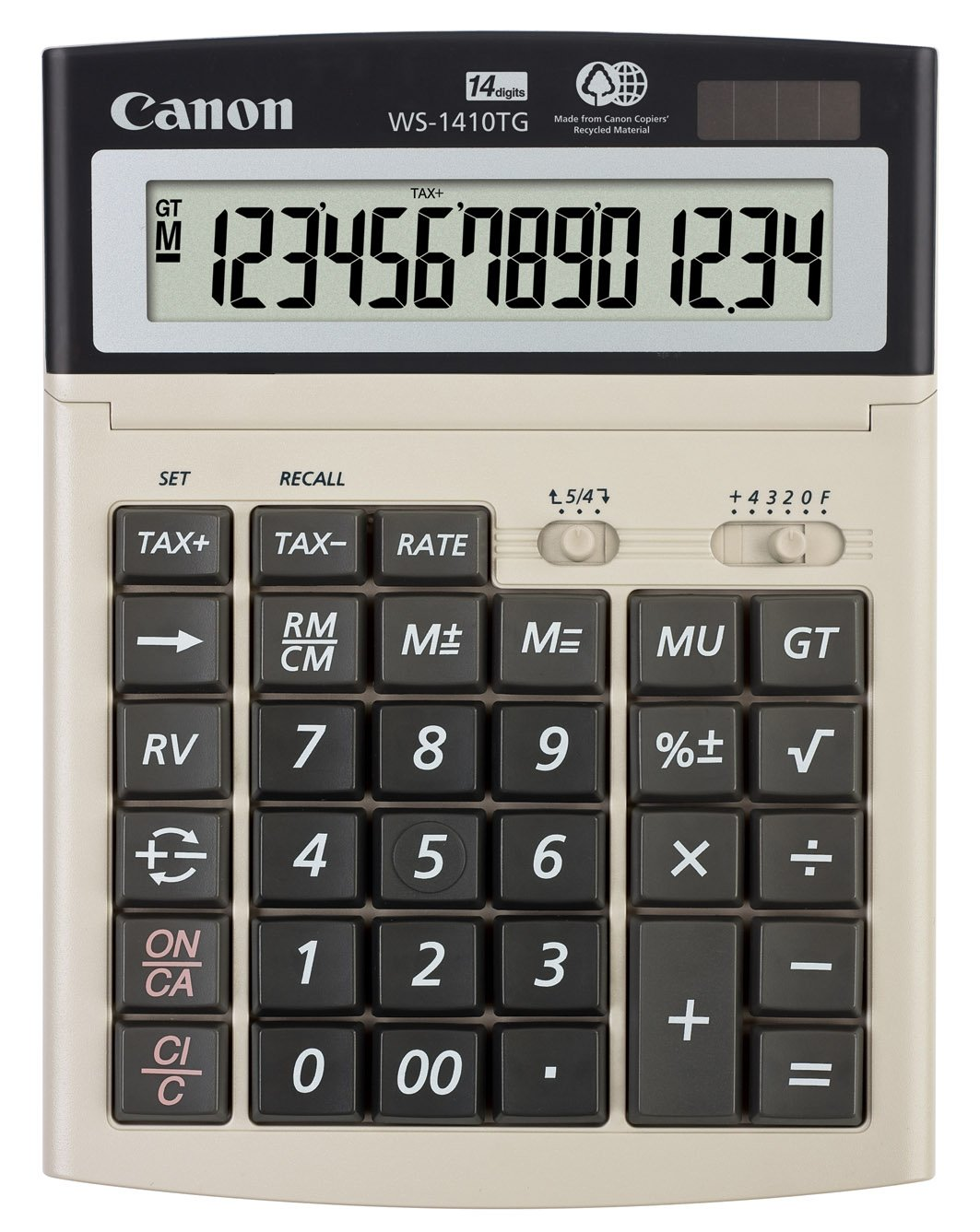 Canon WS-1410TG Big Desktop Calculator (4637B001)