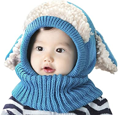 Winter Knitted Hat Toddler Infant Baby Kids Boys Girls Warm Soft Scarf Head Caps