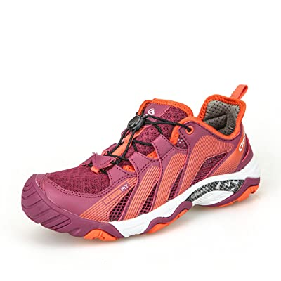 Clorts Women's Amphibious Shoes Water Hiking Shoe Breathable Lightweight Wet-Traction Grip Fuchsia 3H028B US7.5 | Water Shoes