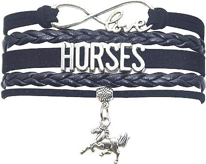 Horse Lovers Horse Themed Gifts Grils Men Boys HHHbeauty Horse Bracelet Leather Infinity Girls Horse Charm Bracelet Friendship Gift for Women