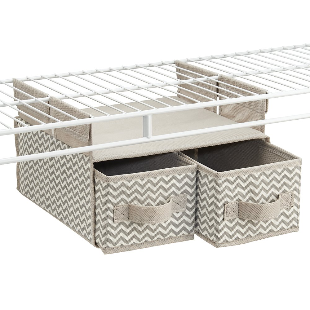 Amazon.com: InterDesign Chevron Soft Closet Storage - Hanging Shelf ...