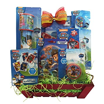 Amazon paw patrol easter gifts with pinball games easter paw patrol easter gifts with pinball games easter gift baskets for kids specially for boys and negle Image collections