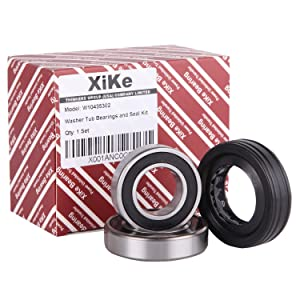 XiKe W10435302 Washer Tub Bearing & Seal Kit, Rotate Quiet and Durable Replacement for Whirlpool, Kenmore, Maytag, W10193886, AP5325033 and PS3503261 Etc.