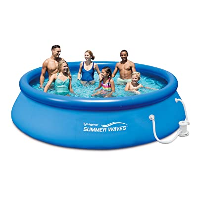 """SUMMER WAVES 12' x 30"""" Quick Set Above Ground Outdoor Water Fun Play Swimming Pool with Filter Pump System: Toys & Games"""
