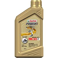 Castrol 159AE1 06080 Power RS V-Twin 20W-50 4-Stroke Motorcycle Oil - 1 Quart, (Pack of 6)
