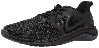 a280d7f201 Reebok Unisex Print Run 3.0 Sneaker, Black/ash Grey/White, 4 M US Big Kid