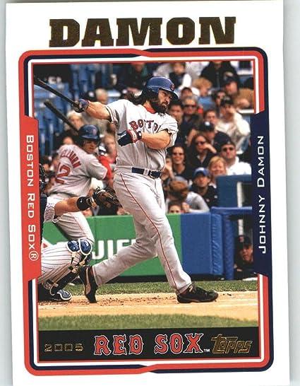 2005 Topps Baseball Card 5 Johnny Damon Boston Red Sox At