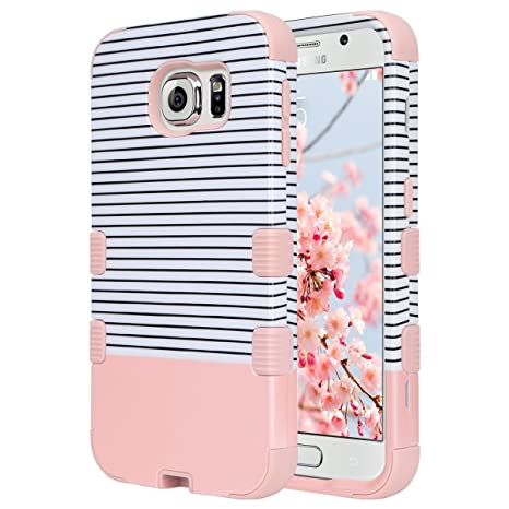 ULAK Galaxy S6 Coque, S6 Coque Housse de Protection Anti-Choc Matériaux  Hybrides en 3997dcf6ed59