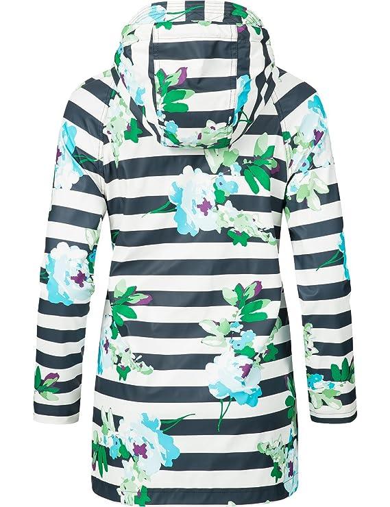 Peak Time Damen Allwetter Jacke Regenmantel L60017 Navy Flowers Gr. XL   Amazon.de  Bekleidung c47896d811
