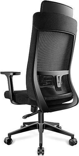 DAVEJONES Office Chair Desk Computer Ergonomic High Back Mesh Chair