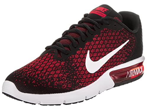 Nike Men's Air Max Sequent 2 BlackWhite Team Red Running