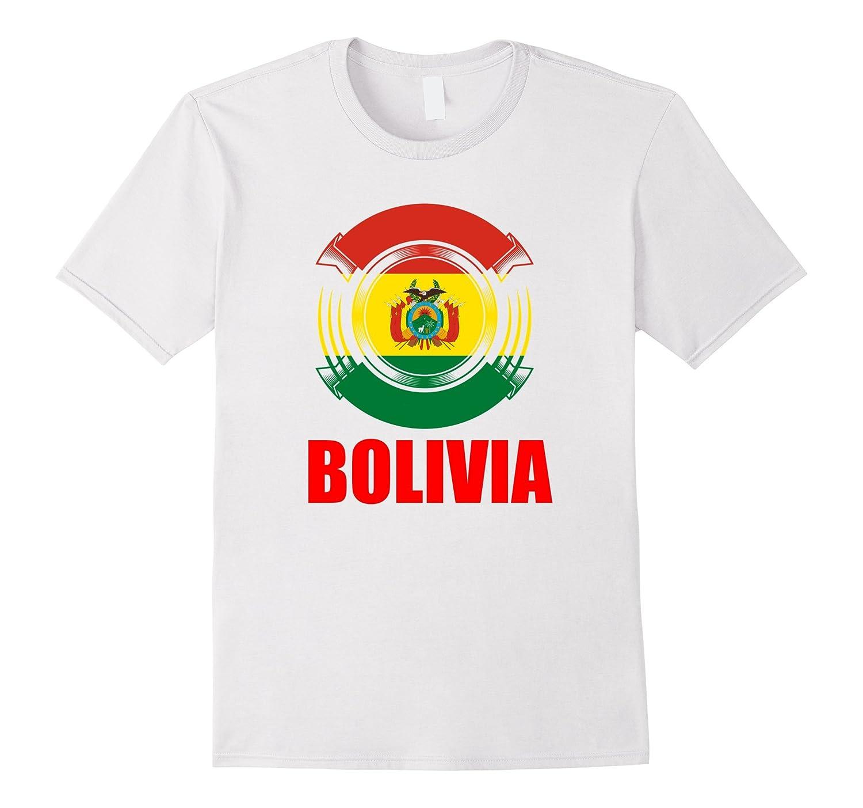 Bolivia Flag Badge Pride Gift T-Shirt-TH