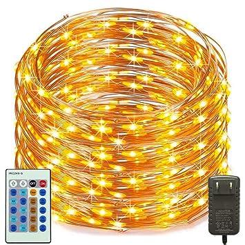 RUXMY Fernbedienung LED Saiten Licht Wasserdicht 50M 500Led  Weihnachtsbeleuchtung Indoor Schlafzimmer, Terrasse,