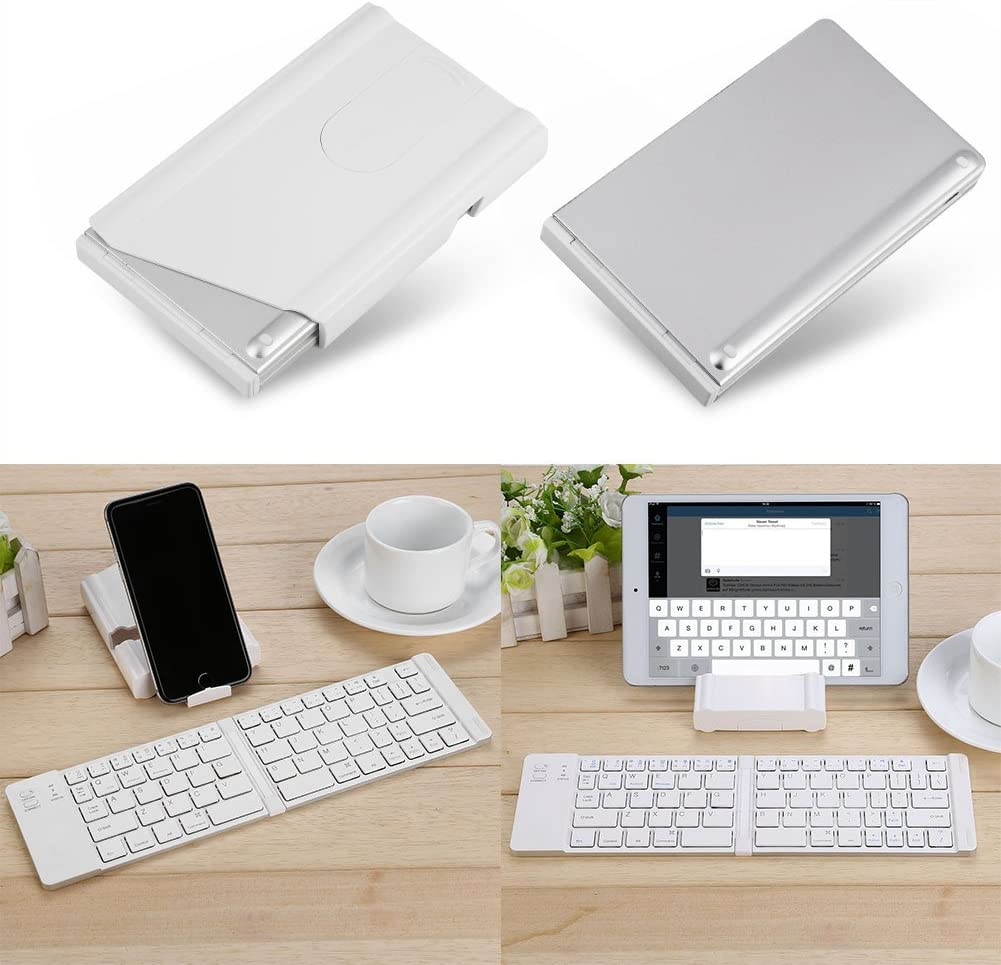 Bewinner Portable Magnetic Folding Wireless Bluetooth Keyboard for Android iOS Windows,Ergonomic /& Full Size Keyset Designed,Bluetooth Smart Connection