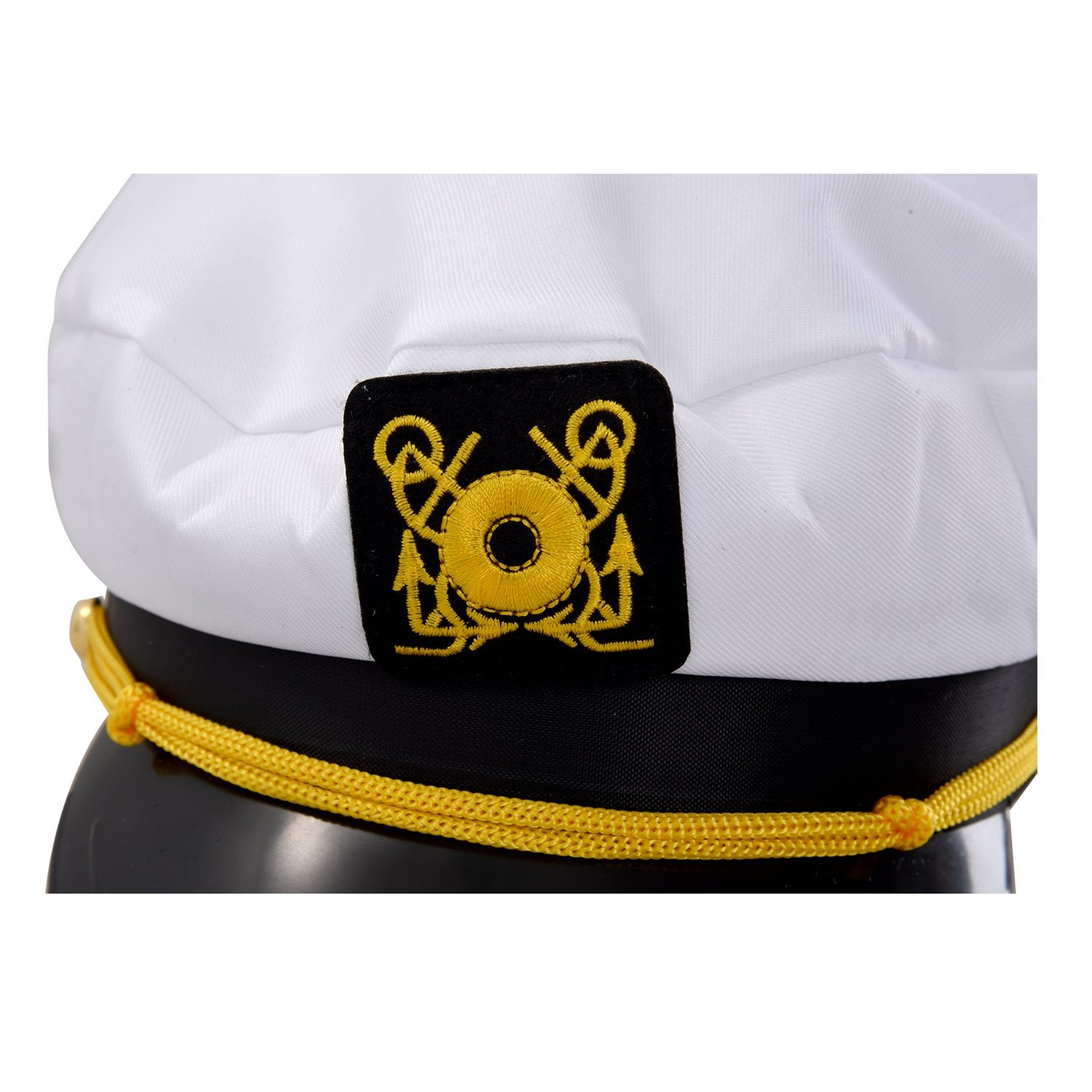 Amazon.com: White Navy Sailor Cap - TOOGOO(R)White Navy Sailor Cap Captain Marino Marin Uniform Cotton Color White Black: Sports & Outdoors