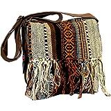 Boho Southwest Sandstone Crossbody Shoulder Bag