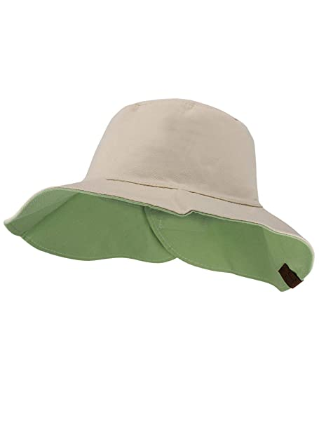 91d374d36 CC Women's 100% Cotton Crushable Bucket Ponytail Messy Bun Sun Hat  Reversible