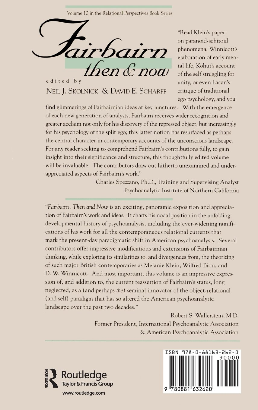Fairbairn, Then and Now (Relational Perspectives Book Series)