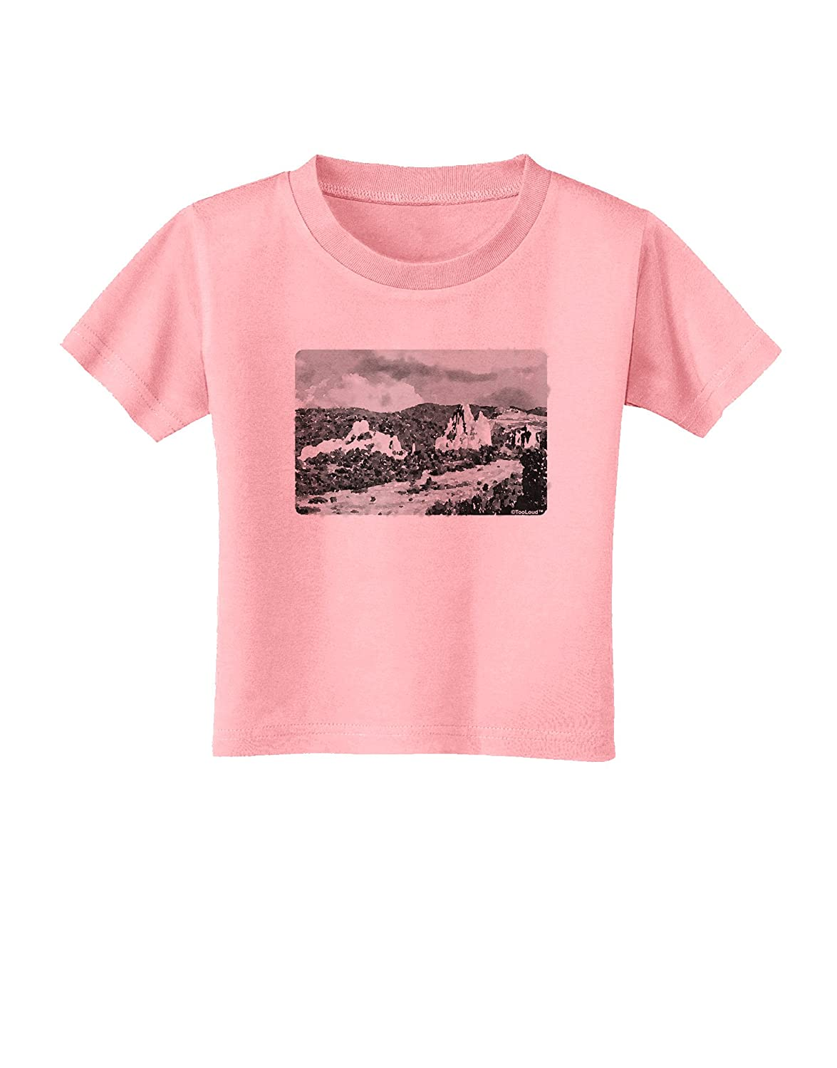 TooLoud CO Mountain Forest Watercolor Toddler T-Shirt